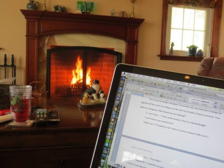 Cathy West's writing space