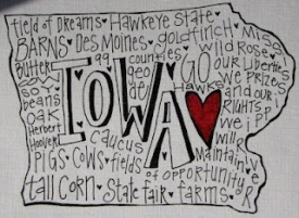 Iowa graphic