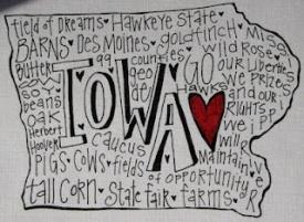 Iowa graphic